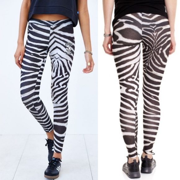 fac1fa4d0c7 adidas Pants | Originals Zebra Print Leggings Medium | Poshmark